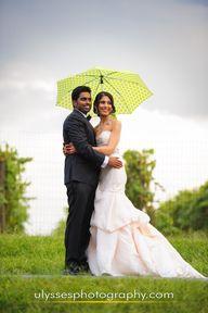 Umbrella wedding pho