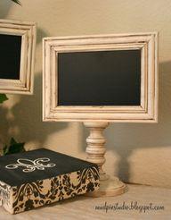 chalkboard pedestal