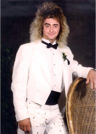 80's tux casual.
