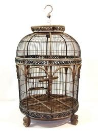 Wooden birdcage