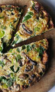 pancetta + leek tort