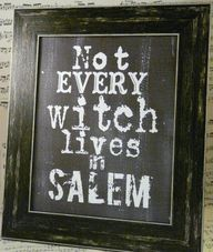 Not Every Witch...