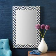 Indigo Chevron Wall