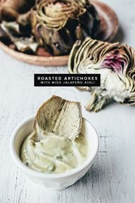 roasted artichokes w