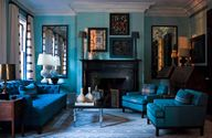 Blue interior in a N