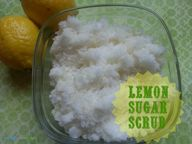 DIY Lemon Sugar Scru