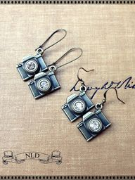 Camera Earrings Phot