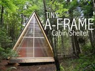 A TINY A-FRAME cabin