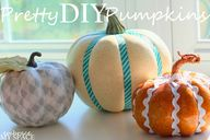 Pretty DIY Pumpkins