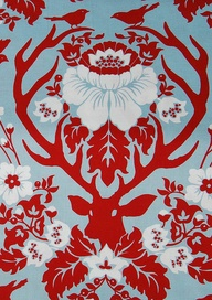 Prints. Patterns. Galore. #versiebyanniem Deer Valley Antler Damask