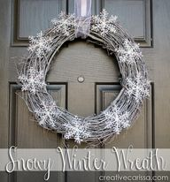 Snowy wreath will la
