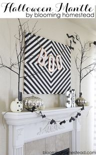Halloween Mantle and