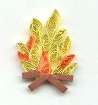 QUILLING CENTRAL - Campfire. via Etsy.