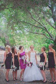Plum & Fuchsia bride