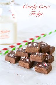 Candy Cane Fudge by