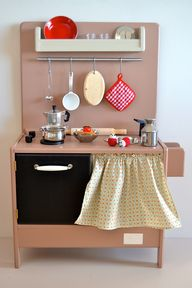 Wooden toy kitchen.