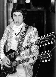 The Who's guitarist Pete Townsend - with Gibson SG twin neck