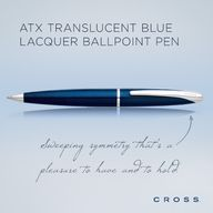 Pinterest Pin - ATX Translucent Blue Lacquer Ballpoint Pen