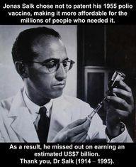 Thank you, Dr. Salk!