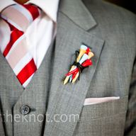 Golf pin boutonniere