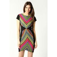 Aztec print dress at