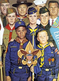"""America's Boypower"" Boy Scout Art by Norman Rockwell 