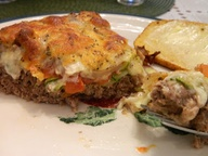 Low carb meatloaf pi