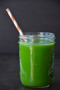 Green juice with cel
