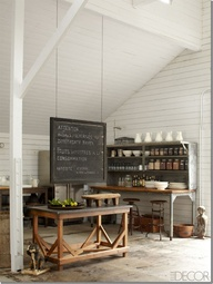 The kitchen area of