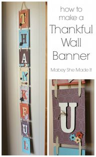 Thankful Wall Banner