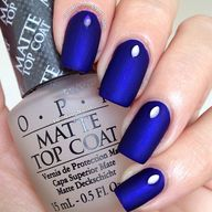 Electric blue matte