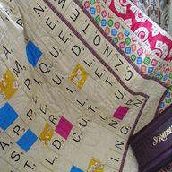 DIY Scrabble Quilt +