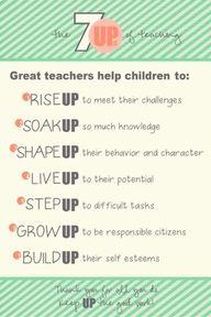7 Ups of Teaching -