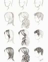 how to draw hair- ye