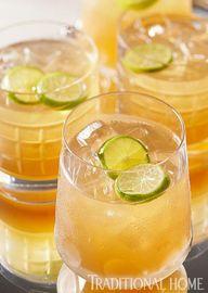 Bourbon, ginger beer