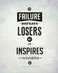 Never let failure st