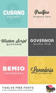 twelve free fonts /