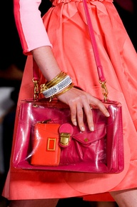 Cinderella Story  Transparent Bag #Trend for Spring Summer 2013.   Marc by Marc Jacobs Spring Summer 2013. #bag #accessory #trends