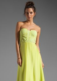 SUBOO Strapless Maxi Dress in At Lake Tahoe