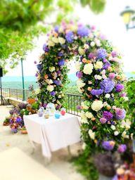 Arches fleuries pour
