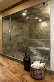 Huge shower...