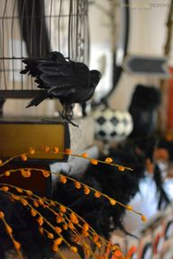 Halloween Mantel by