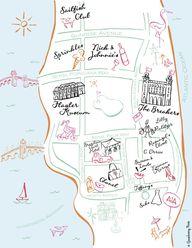 Palm Beach Map Print