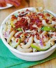 Zucchini Bacon Mac a