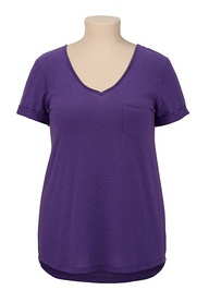 V-Neck Tee with Pock