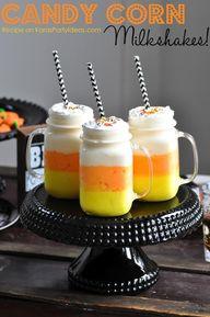 Candy corn milkshake