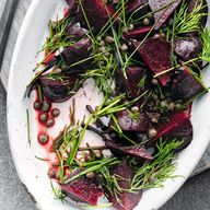 Roasted beetroot wit