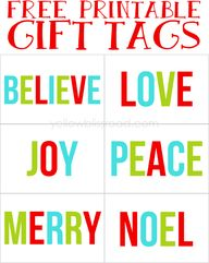 Cute Christmas tags.