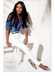 outfit #white #denim #chambray #top #shirt #shoes #effortless #weekend #casual #chic