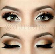golden smokey eyes a